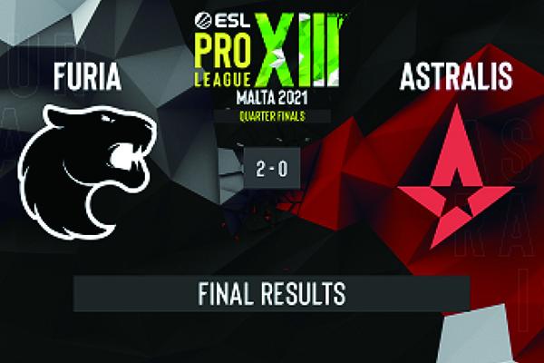 CSGO赛事:EPL S13 Astralis0-2不敌Furia