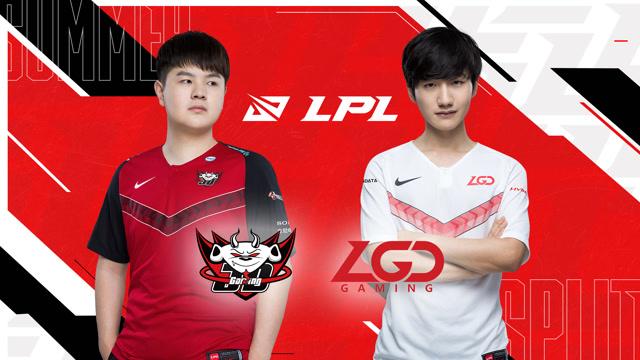 2020职业联赛 夏季赛季后赛 JDG vs LGD BO5第4场