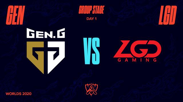 2020全球总决赛 小组赛 GEN vs LGD BO1第1场