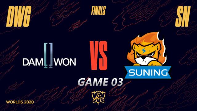 2020全球总决赛 淘汰赛 SN vs DWG BO5第3场